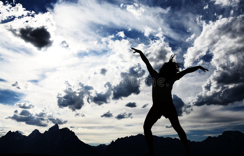 Ballo della montagna fotografia stock