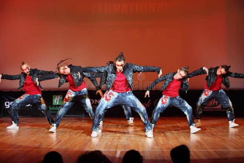 Ballo della squadra della forza di Banda immagini stock