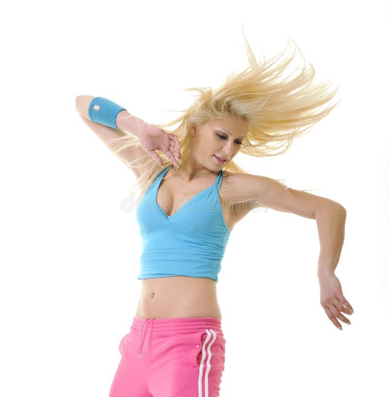 Ballo delle giovani donne isolato fotografie stock