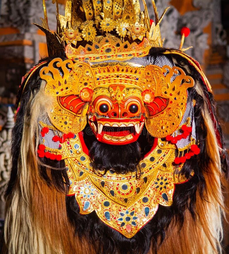 Ballo di Barong, Lion Dance immagine stock
