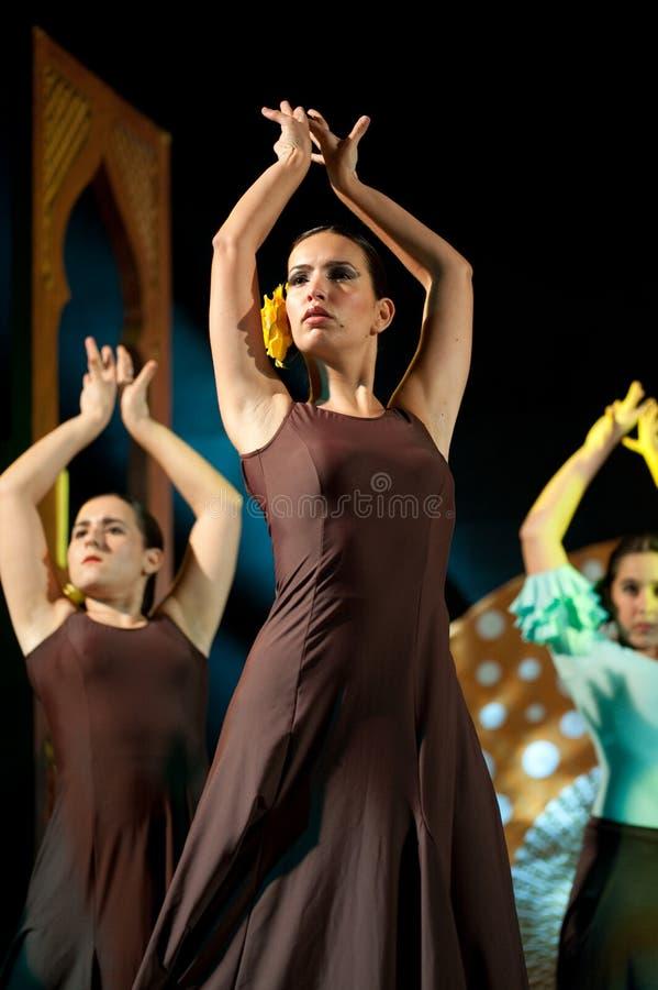 Ballo di flamenco fotografia stock libera da diritti