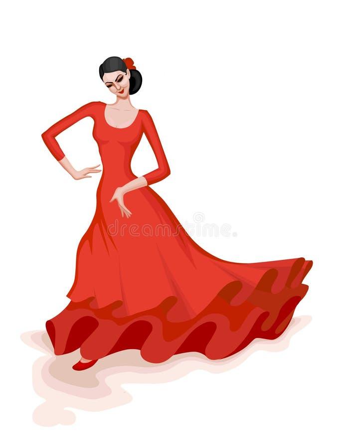 Ballo di flamenco royalty illustrazione gratis