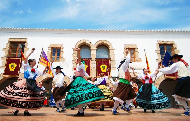 Ballo di folclore in Ibiza Spagna Europa immagine stock