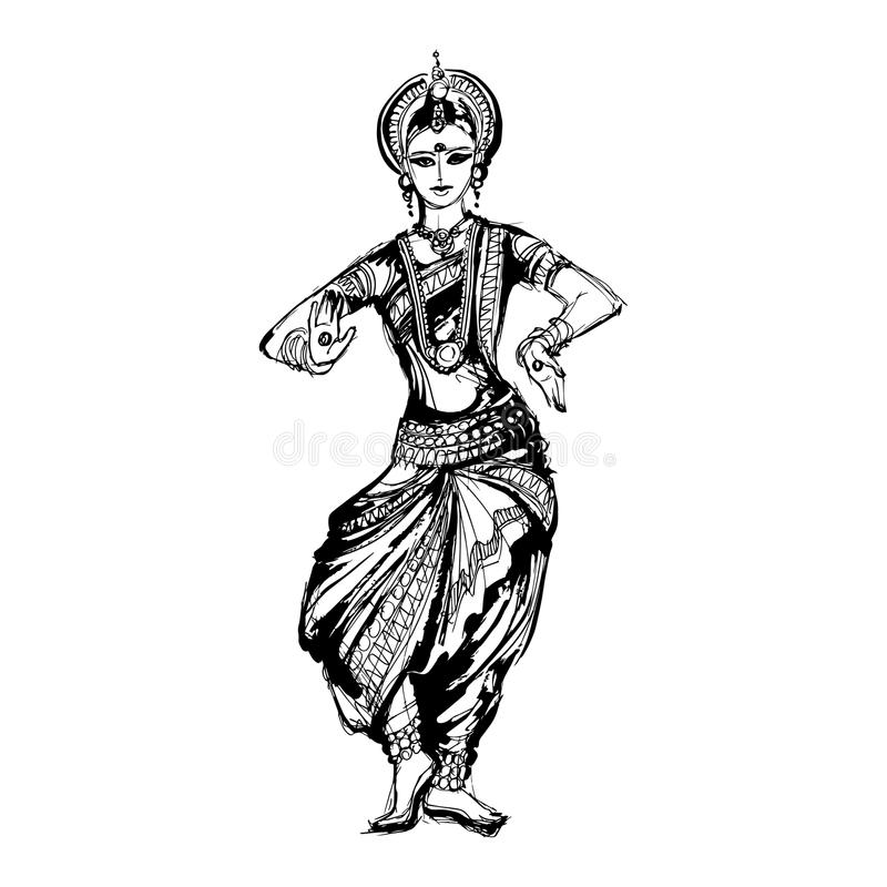 Ballo di Indian del ballerino royalty illustrazione gratis