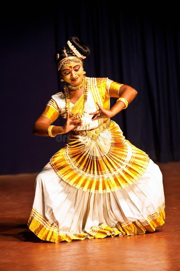 Ballo di Mohiniattam, India fotografie stock