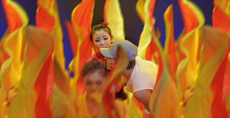 Ballo di piega cinese: giorno pieno di sole di jiujiu immagini stock