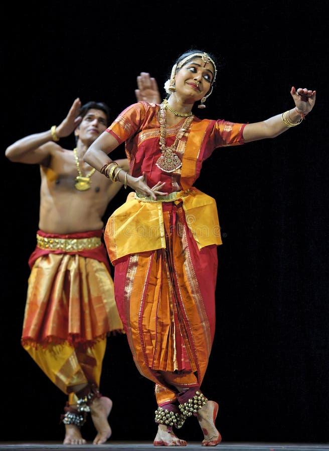Ballo di piega indiano: Tillana fotografia stock
