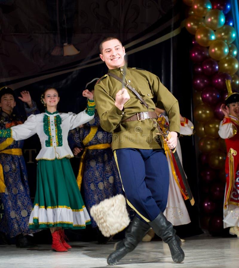 Ballo di piega russo fotografia stock