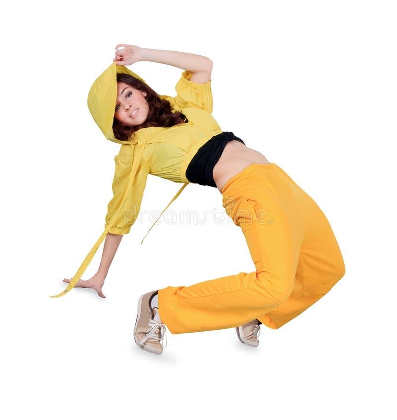 Ballo di rottura di dancing dell'adolescente nell'azione fotografie stock libere da diritti
