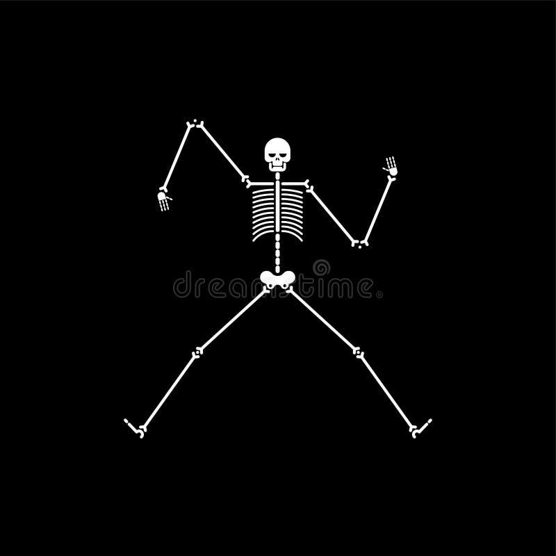 Ballo di scheletro isolato Balli dell'osso e del cranio Illustrat di vettore royalty illustrazione gratis