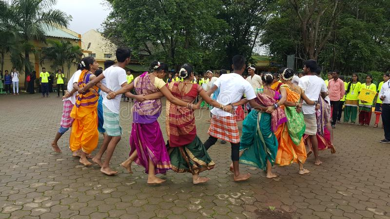 Ballo di Team Tribal dell'India immagine stock libera da diritti