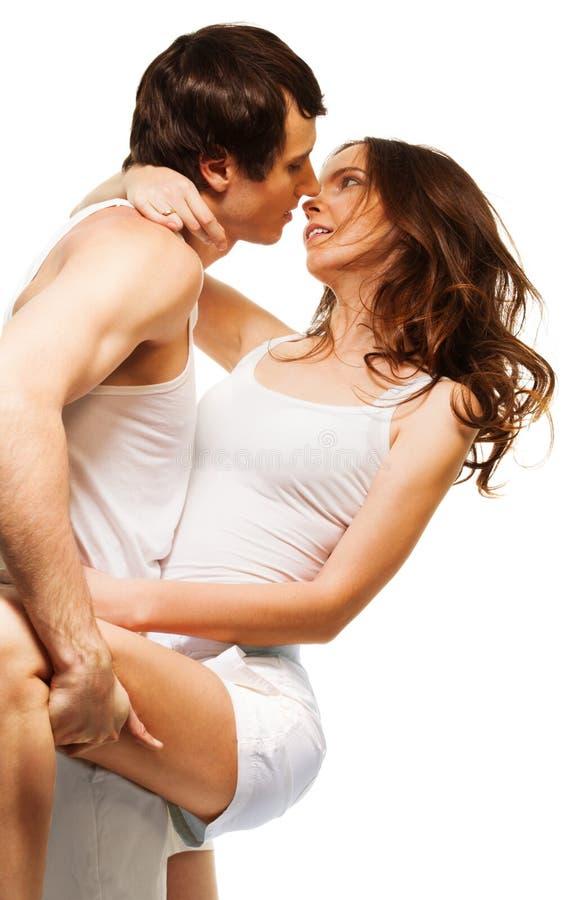 Ballo e bacio fotografia stock