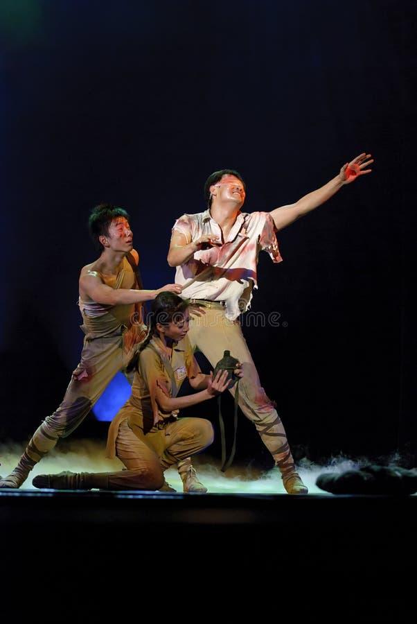 Ballo moderno cinese Drame immagini stock