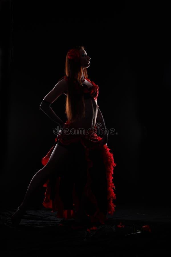 Ballo nella nerezza fotografia stock
