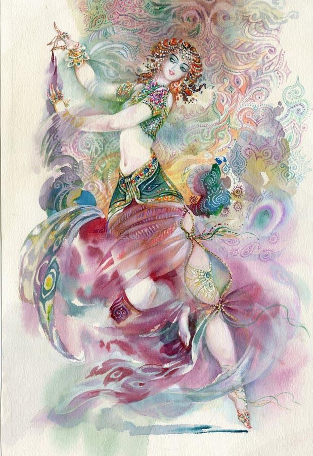 Ballo orientale. Ragazza royalty illustrazione gratis