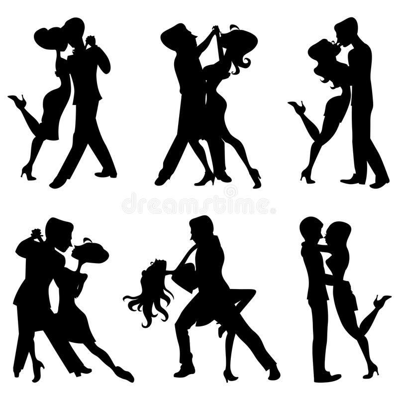 Ballo romantico illustrazione di stock
