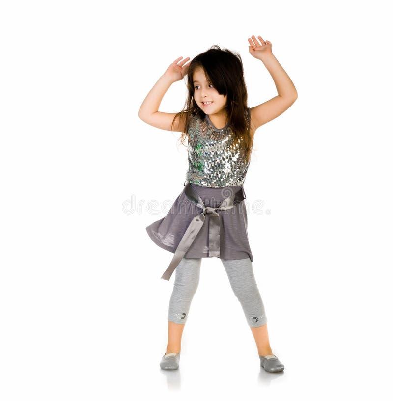 Ballo sveglio della bambina fotografia stock libera da diritti