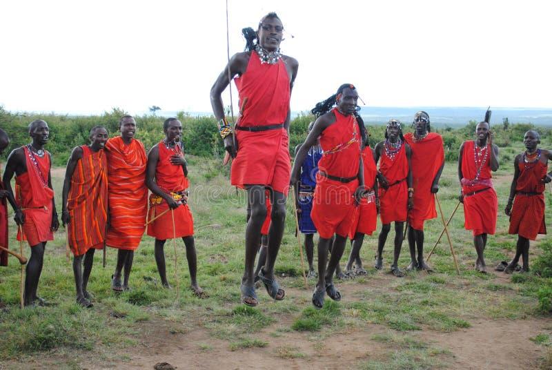 Ballo tribale del Masai immagine stock libera da diritti