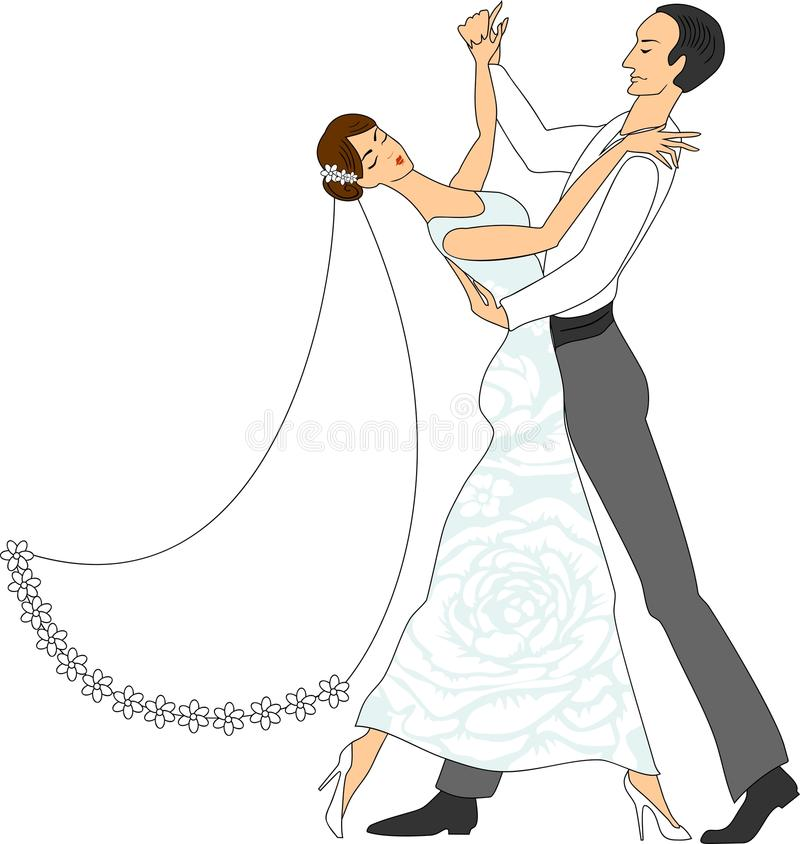 Ballo Wedding illustrazione vettoriale