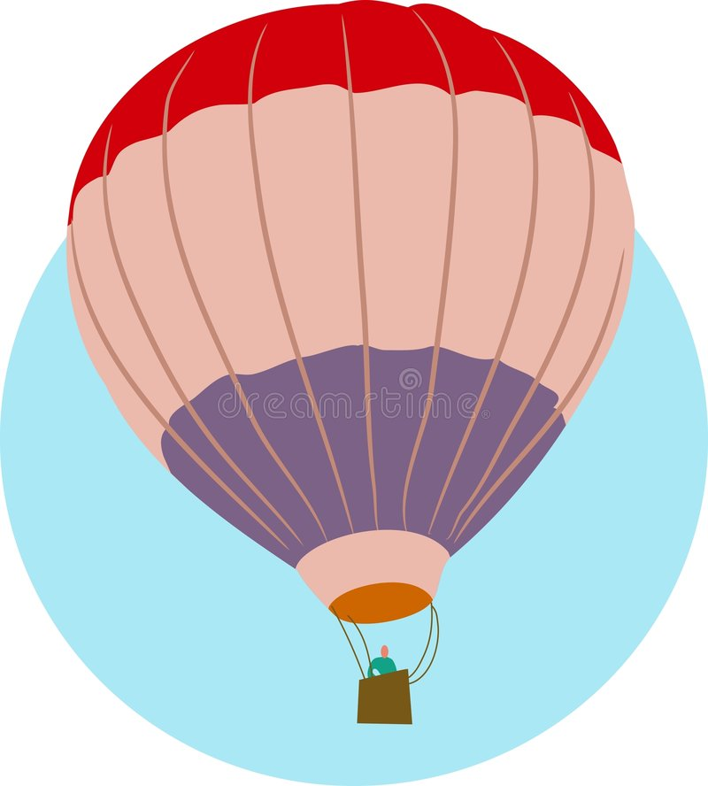 Ballon à air illustration de vecteur