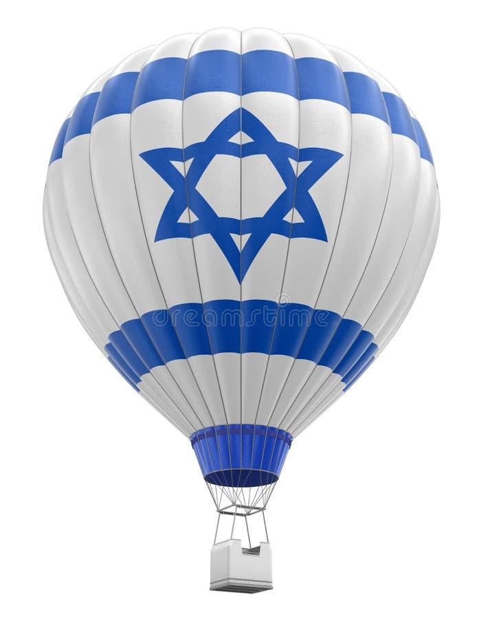 Ballon à air chaud avec le drapeau israélien (chemin de coupure inclus) illustration libre de droits