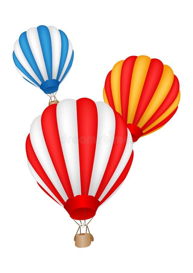 Ballon à air chaud coloré illustration stock