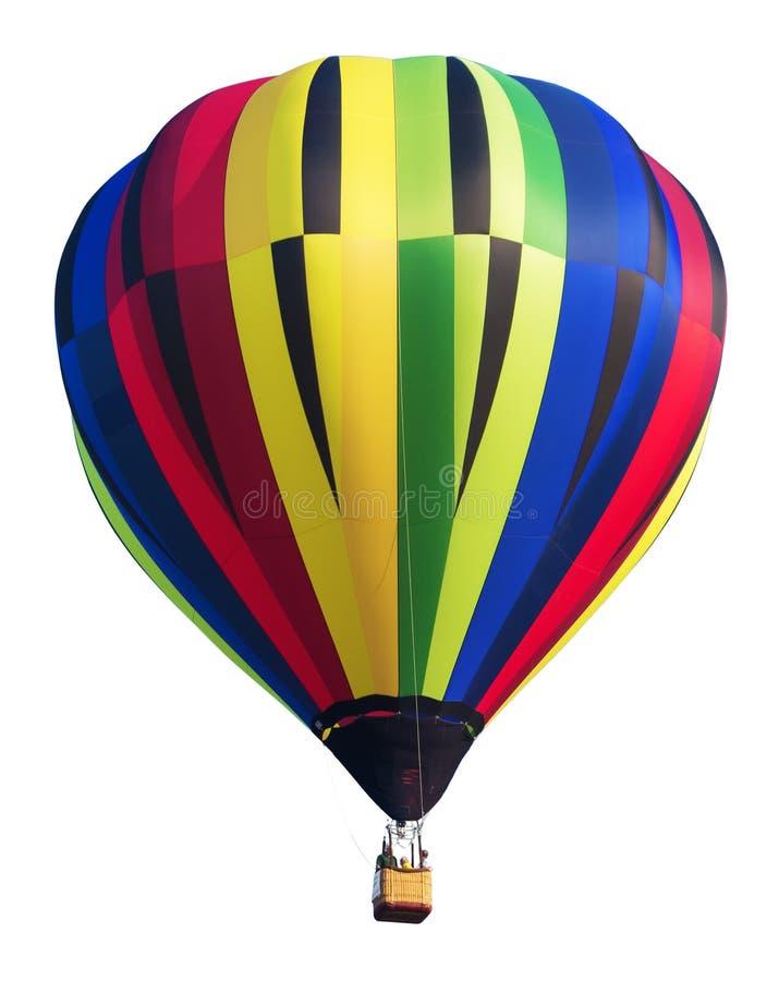 Ballon à air chaud coloré d'isolement sur le blanc image libre de droits