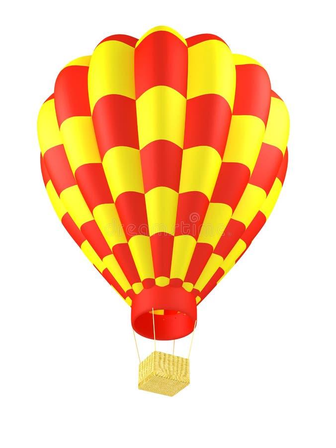 Ballon à air chaud d'isolement images stock