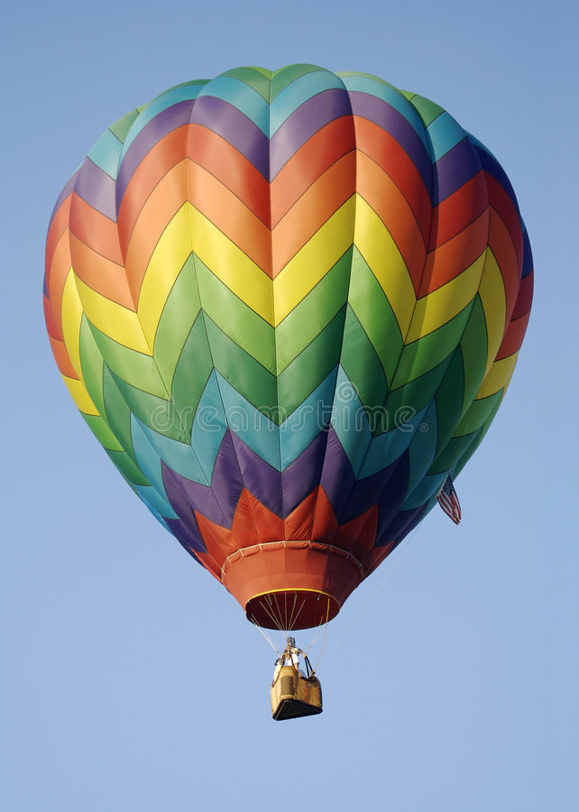 Ballon à air chaud de piste d'arc-en-ciel photographie stock libre de droits