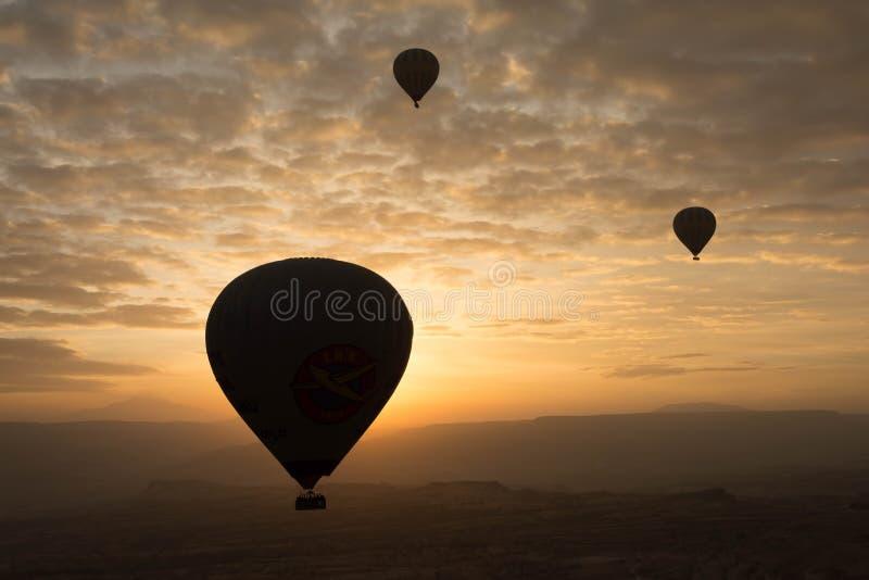 Ballon à air chaud de voyage romantique photographie stock