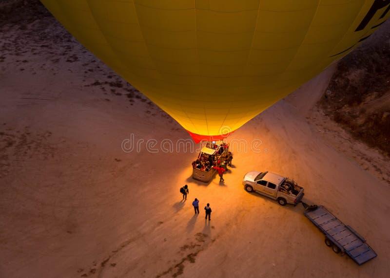 Ballon à air chaud de voyage romantique image libre de droits