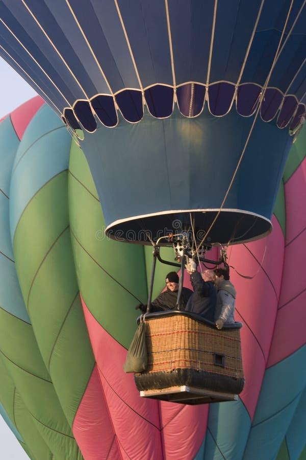 Ballon à air chaud se levant au festival de Greeley images libres de droits