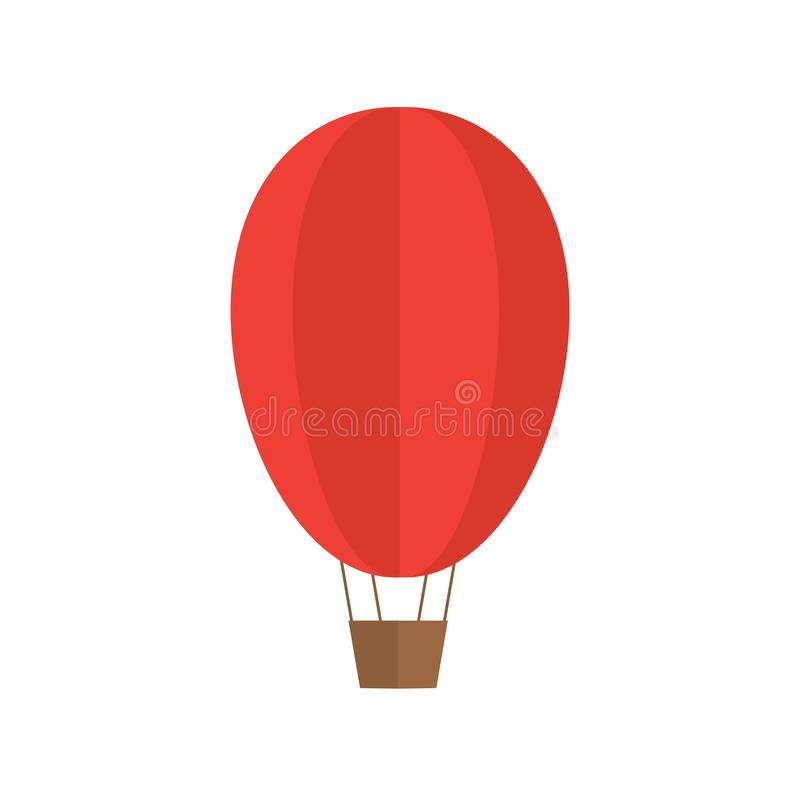 Ballon à air d'un rouge ardent illustration de vecteur