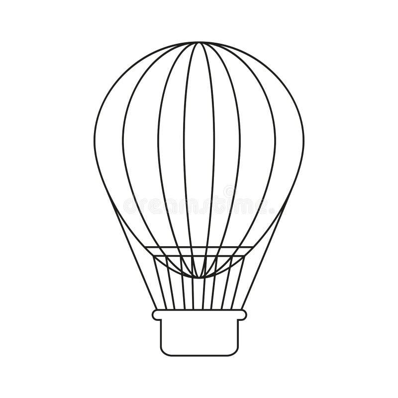 Ballon εικονίδιο διακοπών απεικόνιση αποθεμάτων