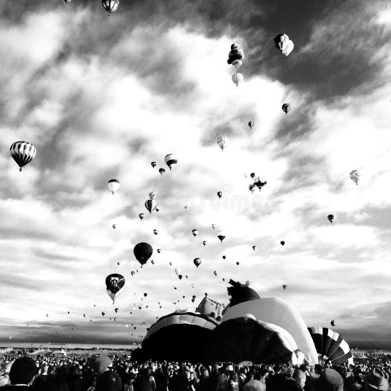 Ballon ο Μαύρος γιορτής και στοκ εικόνα με δικαίωμα ελεύθερης χρήσης