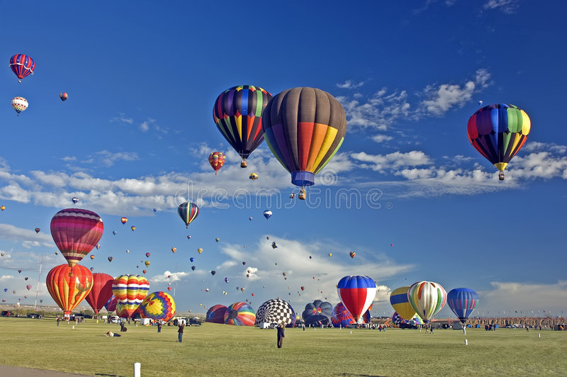 ballon του Αλμπικέρκη γιορτή στοκ φωτογραφίες