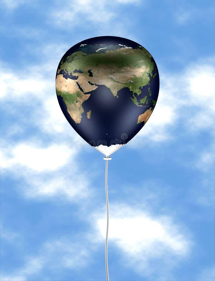 Ballon 02 van de aarde royalty-vrije illustratie