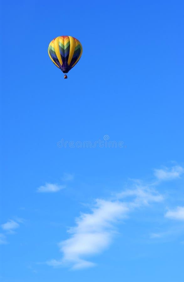Ballon. A hot air ballon and blue sky stock photos