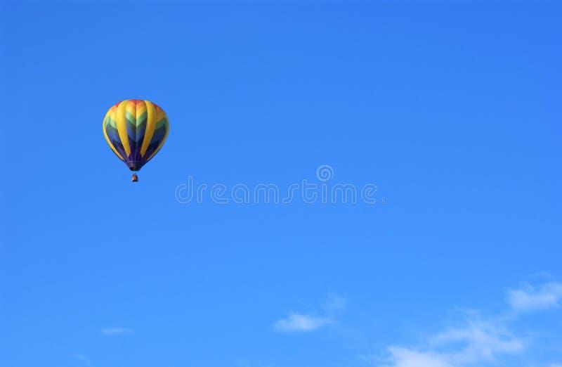 Ballon. A hot air ballon and blue sky royalty free stock photos