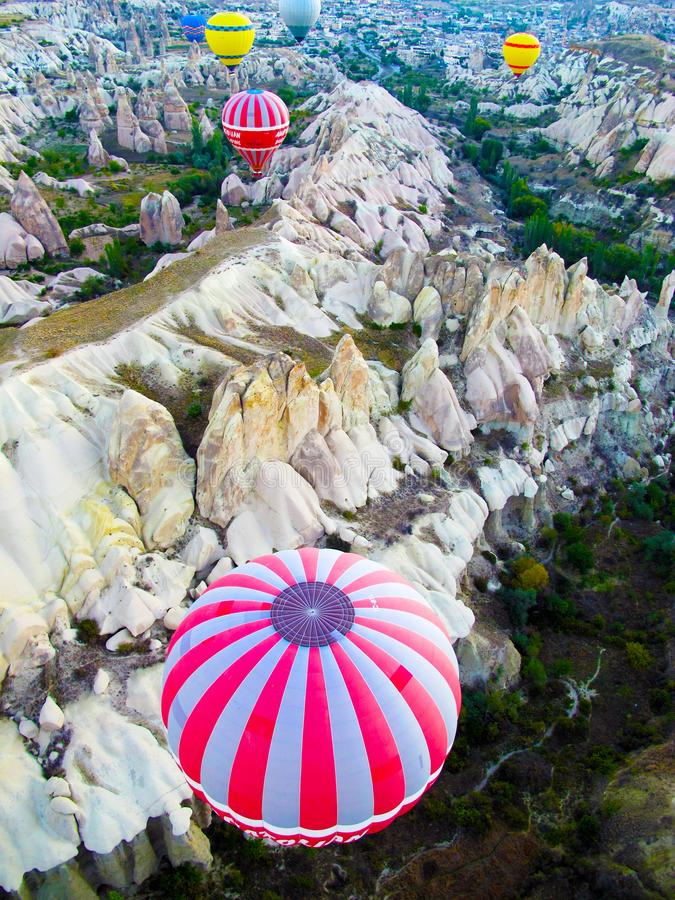 Ballon ? air chaud dans Cappadocia images stock