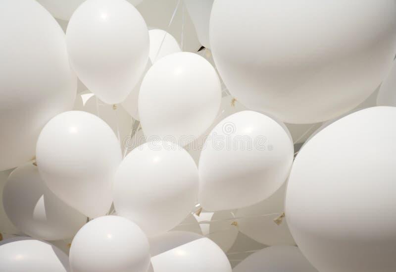 Ballon blanc photo stock