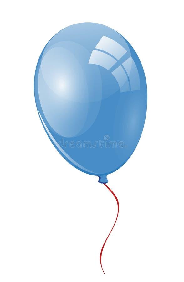 Ballon bleu photo libre de droits