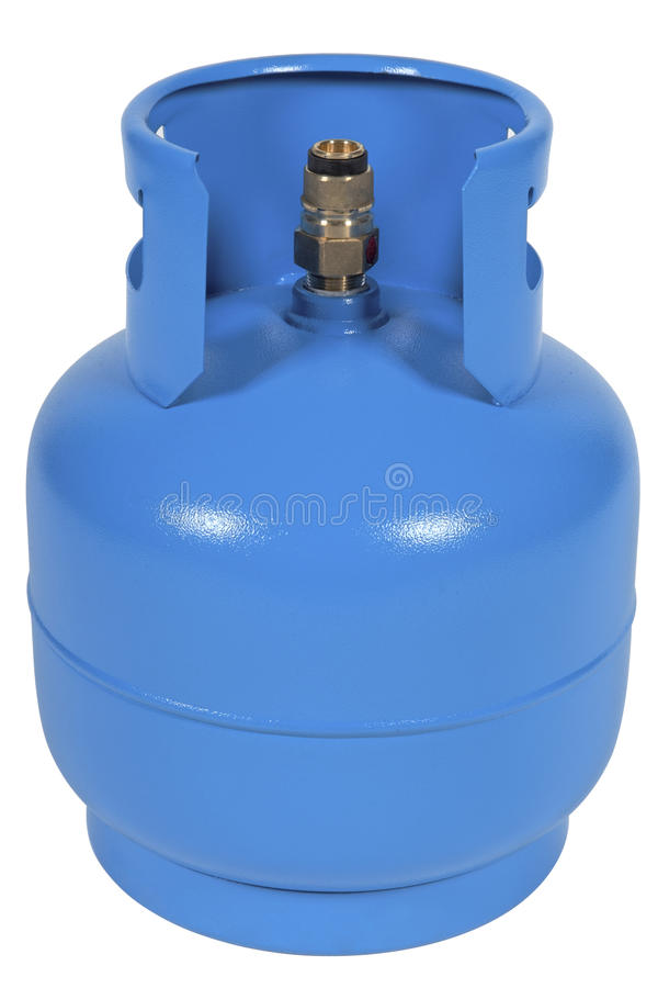 Ballon bleu de gaz image stock