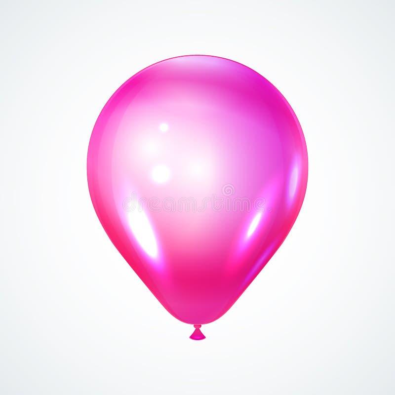 Ballon brilhante cor-de-rosa ilustração do vetor