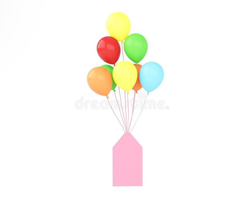 Ballon with card royalty free illustration
