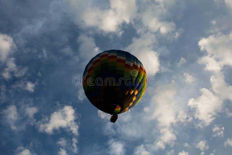 Ballon centrado do ar quente foto de stock