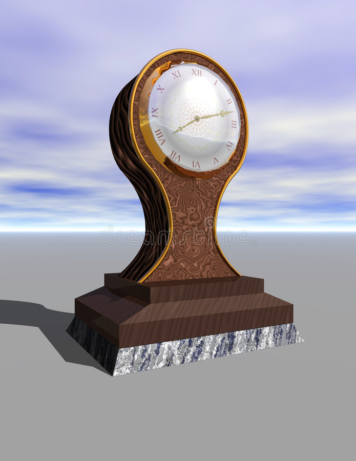 Download Ballon Clock stock illustration. Illustration of frame - 101350