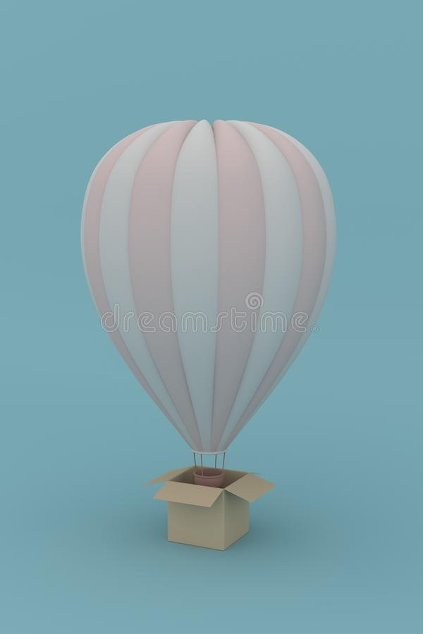 Ballon 3d übertragen Floss auf der Luft lizenzfreie abbildung