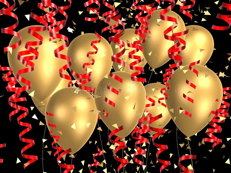 Ballon d'or avec des bandes illustration de vecteur