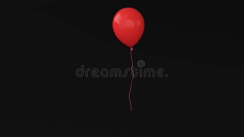 Ballon 3d vermelho fotografia de stock